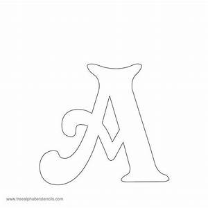 free printable stencils for alphabet letters numbers With letter wall stencils for painting