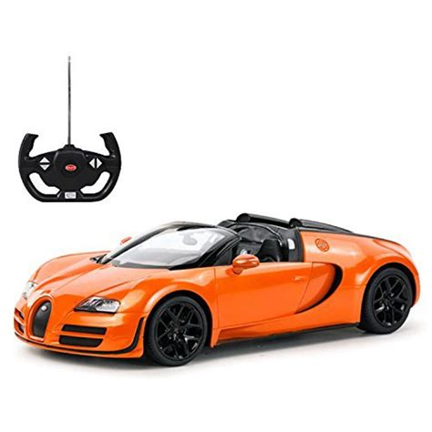 This car demonstrates that it is possible to create a roadster version of a supercar with unrivaled performance that is not only incredibly fast and dynamic, but also extremely comfortable and safe to. Radio Remote Control 1/14 Bugatti Veyron 16.4 Grand Sport Vitesse Licensed RC Model Car (Orange ...