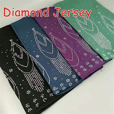 p high quality flower bead rainstone jersey hijab wrap
