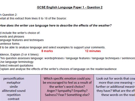 It's all here feel free to add resources to the thread as well as anything that may be helpful to others AQA GCSE ENGLISH LANGUAGE PAPER 2 QUESTION 2 MODEL ANSWER ...