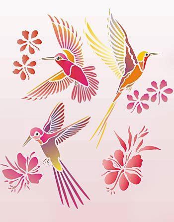 humming birds stencil henny donovan motif