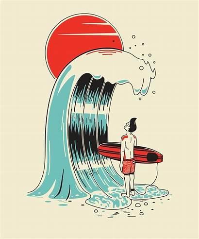 Surf Surfing Illustrations Surfer Wave Waves Drawing