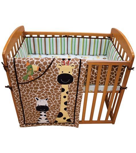 safari crib set lambs peek a boo jungle 3 mini crib set