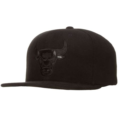 bull cap chicago bulls black monochromatic angry bull snapback hat