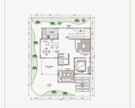 denah rumah minimalis format autocad gambar desain