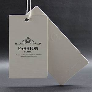 customized garment labelsoem paper hang tag tags labels With fashion tags and labels