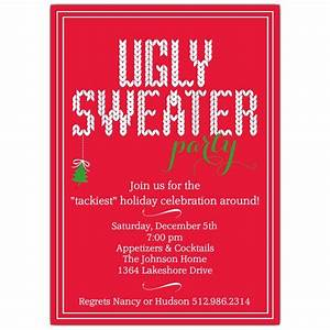 Graduation Party Invite Ugly Sweater Holiday Party Invitations Paperstyle