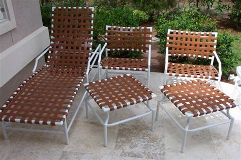 vinyl strapping replacements on tropitone cantina patio furniture in south carolina