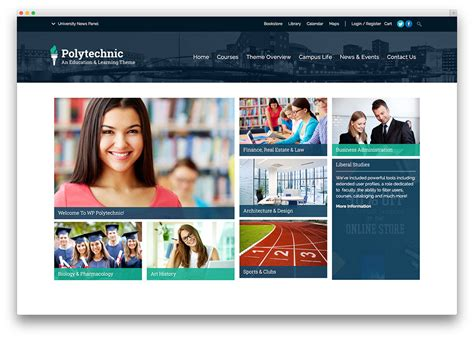 Top 10 School Website Templates by Top Ten Themes For Education Websites Web