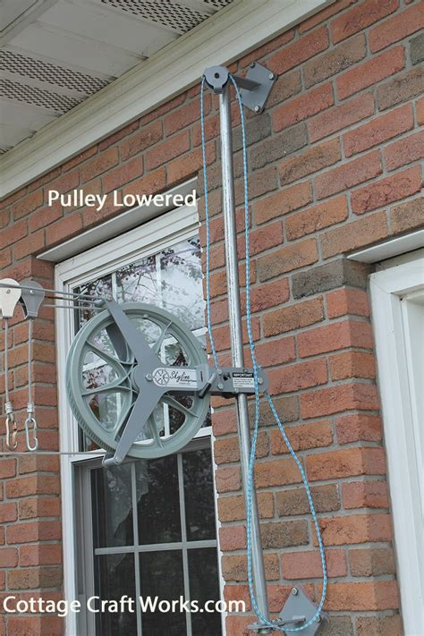 clothesline pulley elevator pole raises wash lines