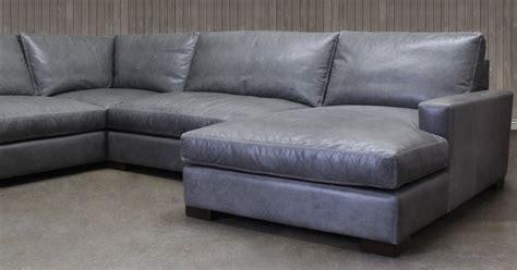 Pewter Leather Sectional Sofa Okaycreationsnet