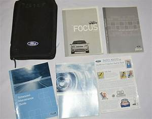 2001 Ford Focus Owners Manual Guide Book Set With Black