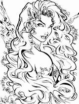 Ivy Poison Coloring Deviantart Dc Adult Comics Artcrawl Character Sketches Sheets Fairy Drawing Drawings Batman Line Fantasy Colouring Adults Printable sketch template