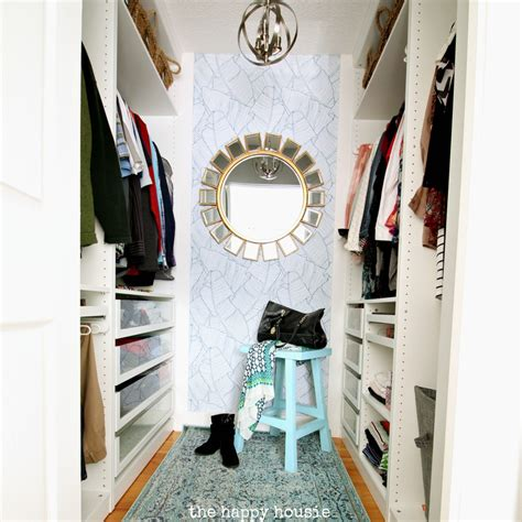 Walk In Closet Wallpaper by Small Walk In Closet Makeover Reveal With Ikea Pax