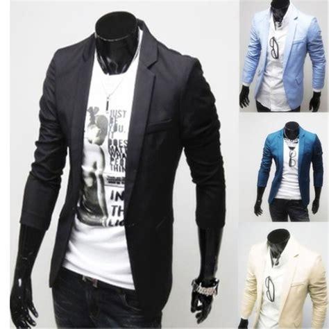 (CLUB WEAR) Casual single button long sleeve men suit ...