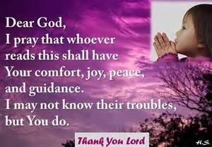 Peace and Comfort Prayer