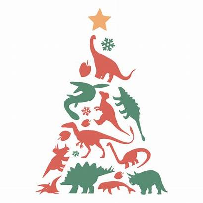 Tree Dinosaurs Svg Awesome Transparent Weihnachtsbaum Cartoon
