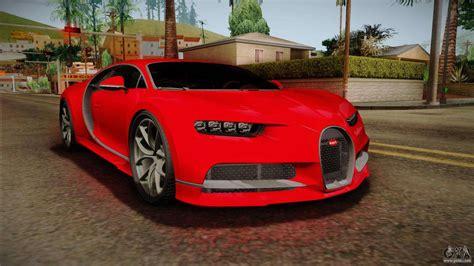 Pues luego de observar mi imagen me di cuenta que había un coche con los rasgos del chiron. Bugatti Chiron 2017 for GTA San Andreas