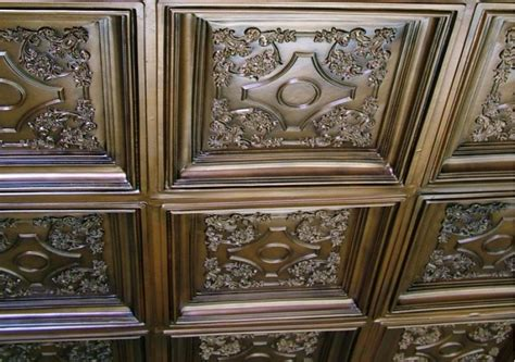 british sterling faux tin ceiling tile coffered drop