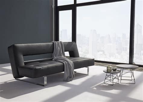 canapé en cuir design canapé en simili cuir avec piètement chromé ultra design
