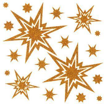 Fensterdeko Weihnachten Gold by Fensterbilder Sterne Gold