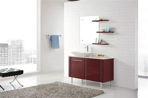 Freestanding Red Vanity Modern Bathroom Vanity Units And