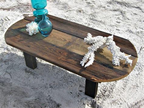rustic reclaimed barn wood coffee table oval primitive