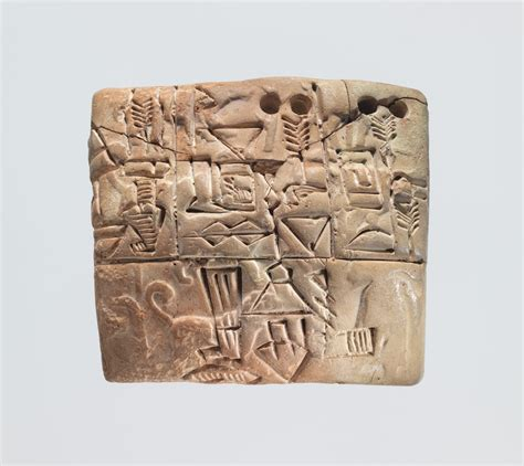 cuneiform tablet administrative account  barley