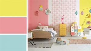 Chambre Bebe Jaune : chambre b b rose et jaune id es de tricot gratuit ~ Nature-et-papiers.com Idées de Décoration