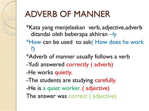 Each sentence contains an example of an adverb of place; PPT - ADVERB PowerPoint Presentation, free download - ID:2809736