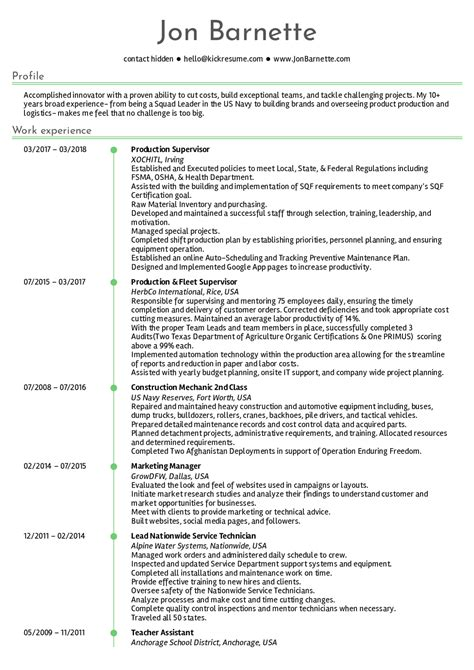Production Resume by Resume Exles By Real Production Manager Resume