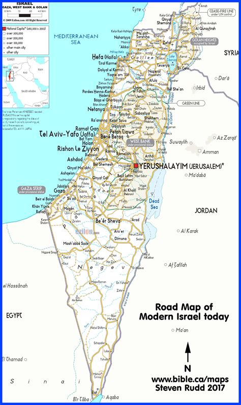 biblical map  palestine