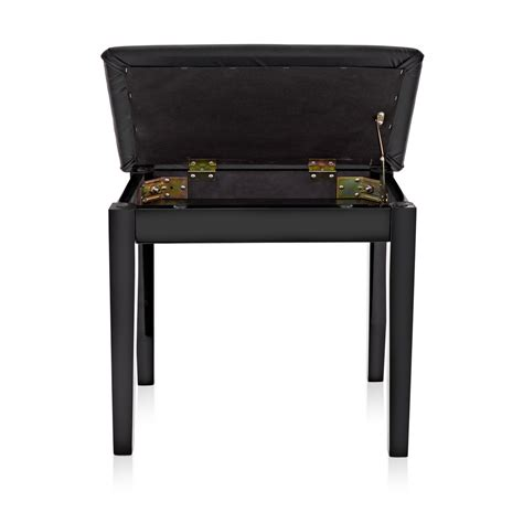 sgabello pianoforte sgabello pianoforte con compartimento gear4music nero