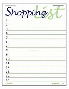 7 Best Images of Pretty Printable Shopping List ...