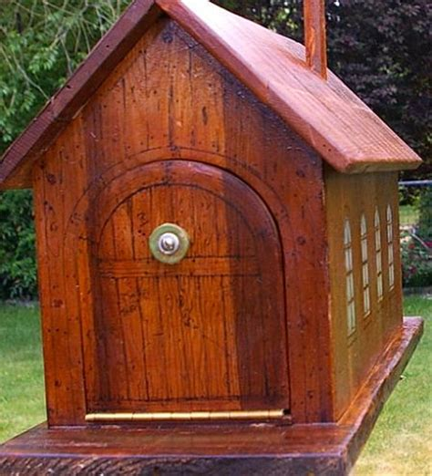 wooden mailbox plans wood  plans