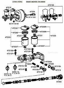 Fj40 Fj45 Fj55 Fj60 Fj62 Brake Master Cylinder Diagram