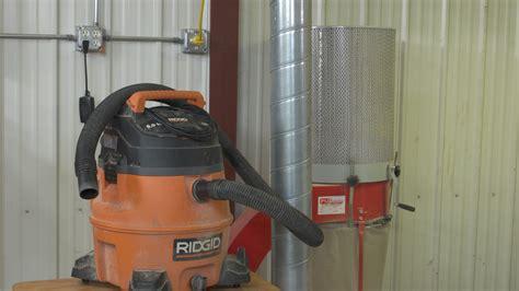 woodshop dust collection shop vacuum  dust collector