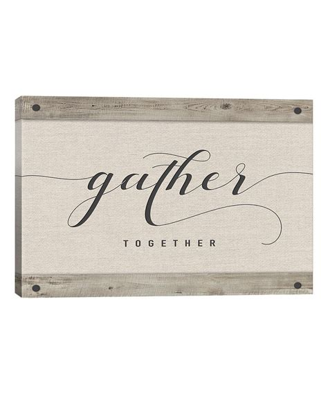 130cm x 18cm (51 x 7 inches)packing: Take a look at this 'Gather Together' Wrapped Canvas Wall Art today!   Gallery wrap canvas ...