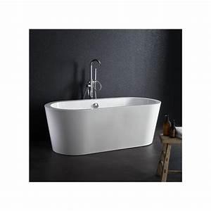 Baignoire Ilot Pas Cher : baignoire ilot ovale acrylique blanche pas cher planetebain ~ Premium-room.com Idées de Décoration