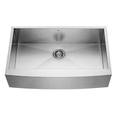 kitchen sinks stainless steel vigo farmhouse apron front stainless steel 36 in single 1896
