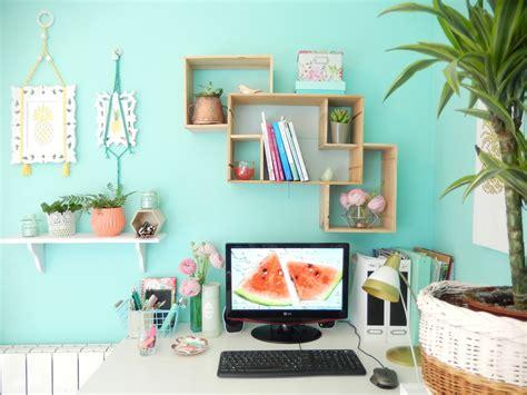 decoration de bureau déco bureau turquoise