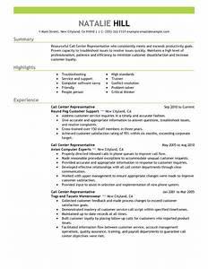call center representative resume example customer With call center representative resume