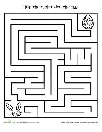 Printable Easter Activities Egg Hunt Maze  Holiday Stuff For Kids  Easter Worksheets, Easter