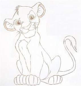 Lion King Baby Simba Drawing