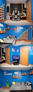 Gaming Zimmer Deko : awesome father made daughter a mario bros themed room gaming room pinterest kinder zimmer ~ Markanthonyermac.com Haus und Dekorationen