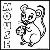 Mouse Coloring Pages Cute Word Animal Farm Results Popular Printables4kids sketch template