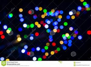 Abstract Blurred Christmas Lights Background Stock ...