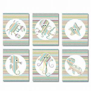 Ocean creatures nursery set download coral and turquoise