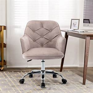 Vanity, Makeup, Chair, With, Wheels, Modern, Swivel, Velvet, Armchair, Ergonomic, Office, Chair, With