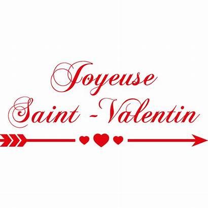Valentin Saint Joyeuse Phrase Stickers Amour Imprimer